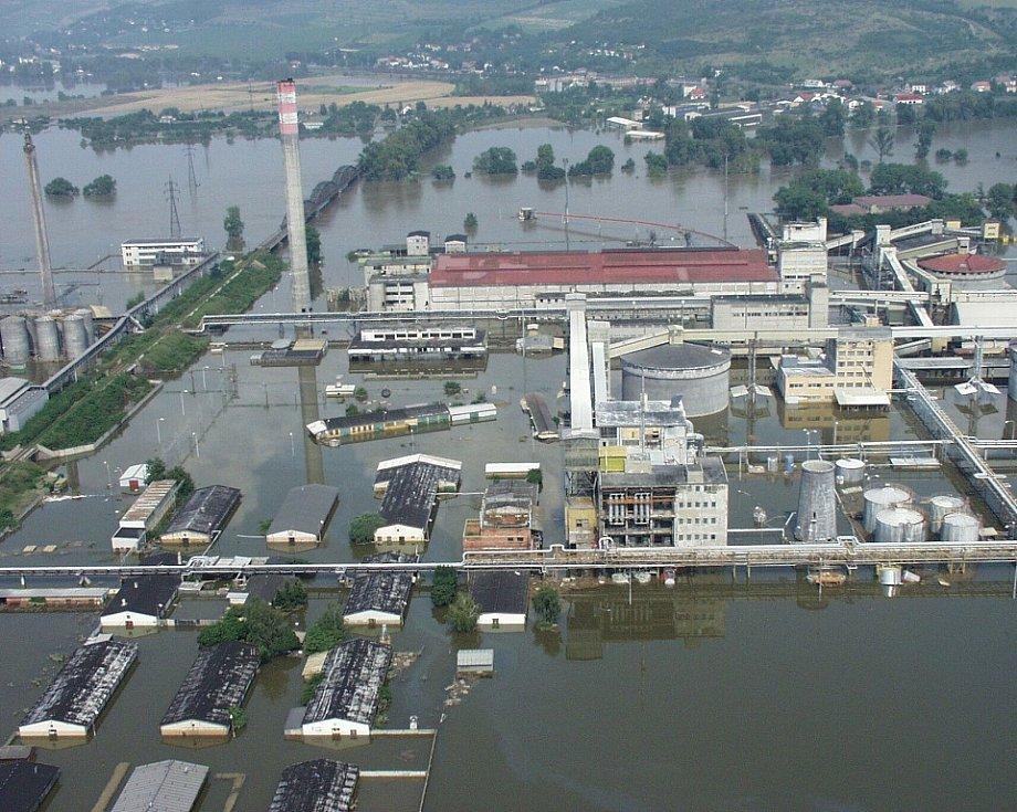 Povodně 2002. Lovosice