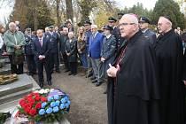 Pietní akt u příležitosti devatenáctého výročí od úmrtí letce z druhé světové války generála Františka Chábery.