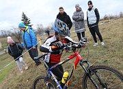 Silvestrovský cyklokros v Terezíně.