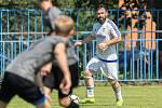 Fotbalová příprava Slaný (v bílém) - Brozany. Domácí posila Šmidrkal