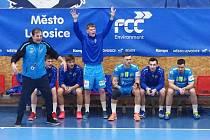 První čtvrtfinále play off házenkářské extraligy Lovosice - Frýdek - Místek.