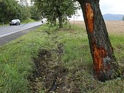 Foto z místa nehody.