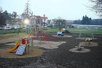 Nové dětské hřiště ve Mšeném - lázních.