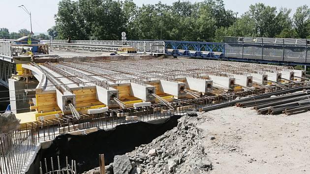 Oprava Tyršova mostu, srpen 2015.