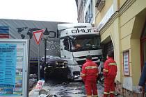Sobotní nehoda v Roudnici