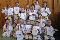 DAŘILO SE. Mladí judisté Litokanu a DDM Rozmarýn Litoměřice rozšířili po další soutěži sbírku svých cenných kovů.