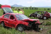 Nehoda mezi obcemi Chodovlice a Klapý