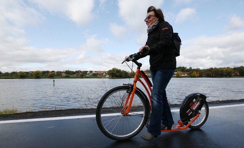 Slavnostní otevřené nové Labské cyklostezky u Dobříně na Roudnicku