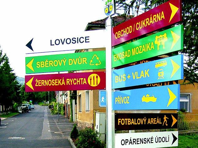 SLOUPKY SE SMĚROVÝMI CEDULEMI jsou instalovány v osmi obcích zapojených do svazku Porta Bohemica.