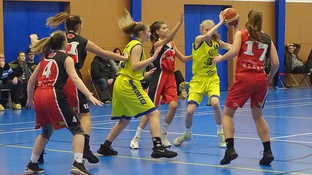 Kadetky U17, nadregionální soutěž: Slovan Litoměřice B - BC Slaný