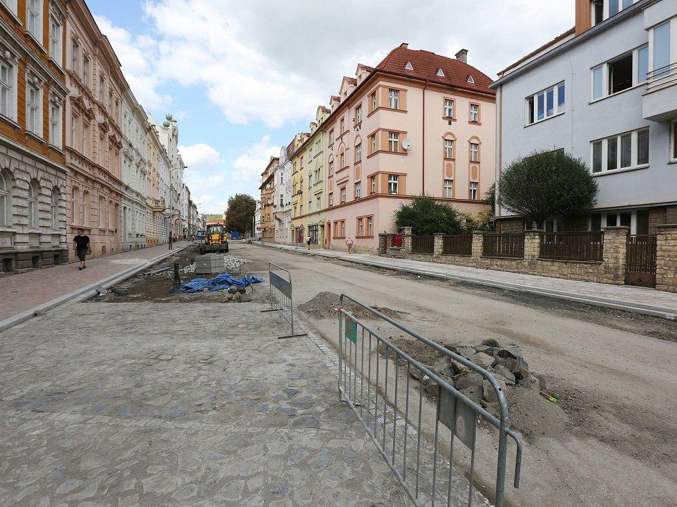 Rekonstrukce ulice Palachova pokračuje.