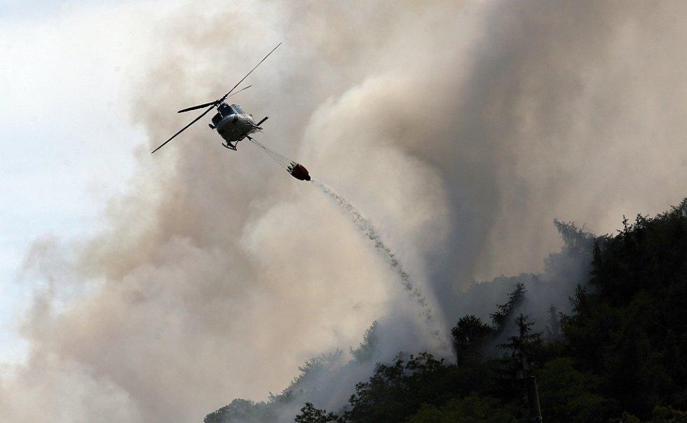 Boj s velkým požárem na Lovosicku