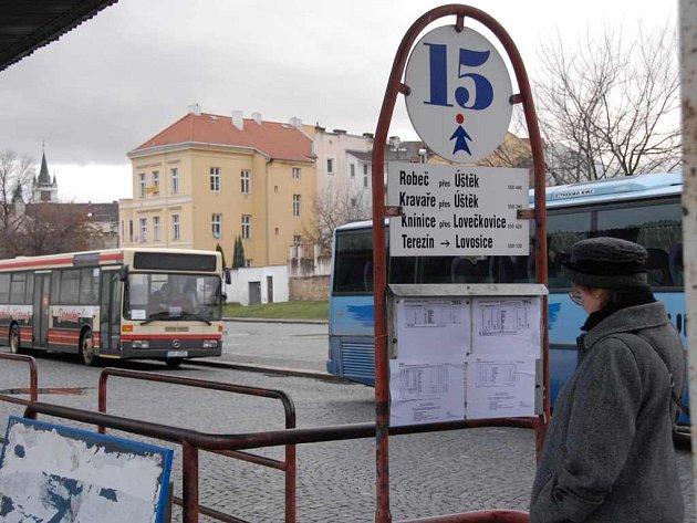 Autobusové nádraží v Litoměřicích