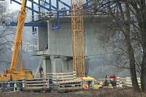 Neštěstí na stavbě nového mostu v Litoměřicích.