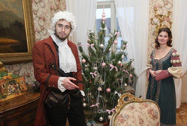 Vánoční prohlídky v ploskovickém zámku.