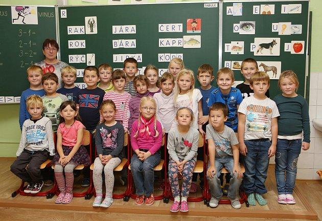 Prvňáčci ze Základní školy vBohušovicích nad Ohří.