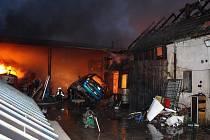 Požár v Travčicích