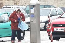 Parkovací automat v Litoměřicích.