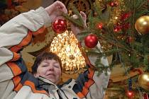 Jeden ze stromků si na ploskovickém zámku ozdobila i jeho pracovnice Hana Gerlická.