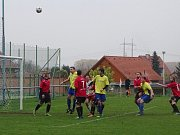 Utkání Libotenic (v červeném) proti Mšenému-Lázním