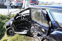Dopravní nehoda v Roudnici nad Labem - pátek 29. 10. 2010.