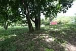 Pietní místo, kde je pohřebiště několika desítek zajatců z koncentračního tábora Richard.