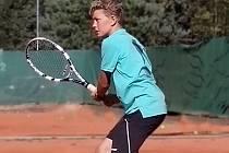 MĚL NAPILNO. Libochovický Kryštof Bušek odehrál nejvíce zápasů v kategorii mladších žáků.
