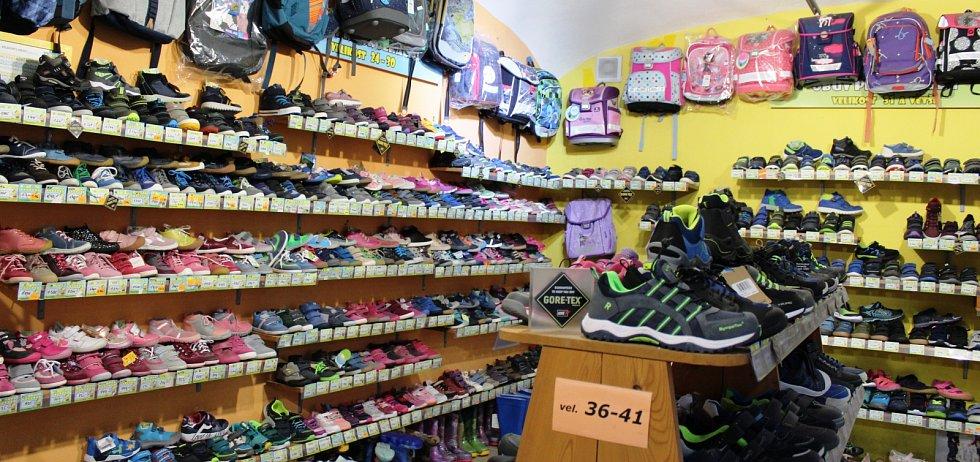 Obchod s dětskou obuví v Masarykově ulici v Litoměřicích