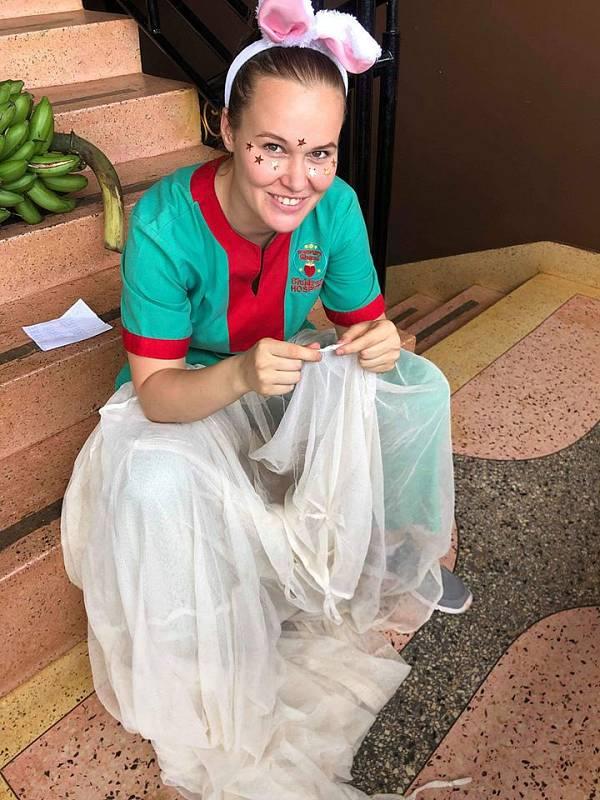 Litoměřická rodačka Markéta Malecová v Ugandě.