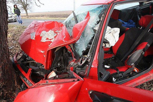 Tragická dopravní nehoda mezi Brňany a Keblicemi.