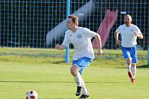 Sport fotbal KP Vilémov - Lovosice. Fotbalisté Lovosic ilustrační.