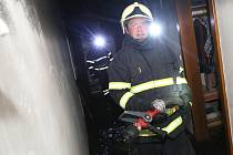 Požár v camphillu v Českých Kopistech.