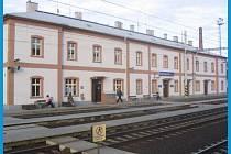 Vlakové nádraží v Bohušovicích.