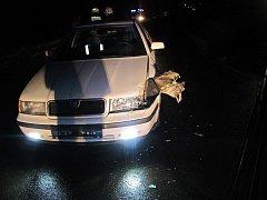 Ve Straškově se střetl osobní automobil s vlakem