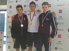 Vojtěch Netrh (vpravo) s vítězným Dubasem z Polska a druhým Böhmem z Maďarska.