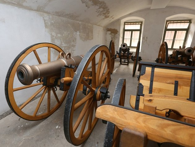 Město Terezín má ve své výzbroji několik děl.