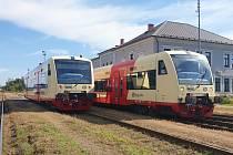 Na železniční trať mezi Postoloprty a Českou Lípou vyjely 23. září v rámci linky U11 nové motoráky řady 841.2 Stadler RegioShuttle RS1.