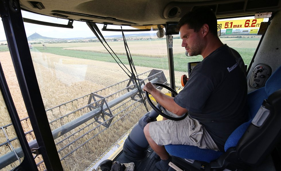 Na Litoměřicku začaly žně, sklizeň ozimů mají za sebou zemědělci na Roudnicku a další zemědělci vyjeli s kombajny do polí koncem týdne.