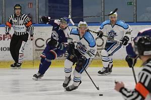 Hokejový zápas mezi Litoměřicemi a Vrchlabím