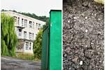 Areál bývalé slepičárny ve Vchynicích a navezený materiál