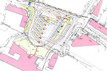 NÁKRES budoucí podoby autobusového nádraží.