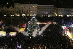 Rozsvícení vánočního stromu na Mírovém náměstí v Litoměřicích