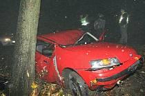 Tragická dopravní nehoda u Milešova - pondělí 2. 11. 2009.