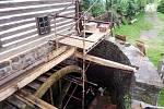 Oprava odtokového kanálu.