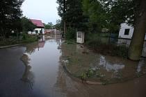 Blesková povodeň zasáhla Zahořany