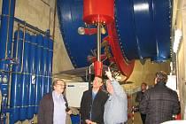 DNO STAVBY malé vodní elektrárny ve Štětí je ve hloubce 13 metrů, kde jsou uloženy dvě Kaplanovy turbíny.