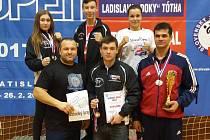 Lovosičtí kickboxeři na Slovak Open 2017.