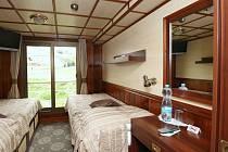 Pokoj v největší hotelová lodi Florentina.