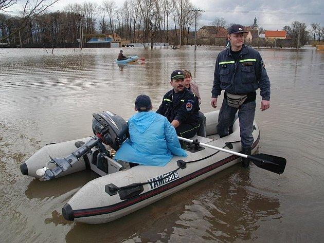 Povodeň v Křešicích.