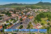 Pěkný pohled na Lovosice z dronu, který nabízí město na svém webu